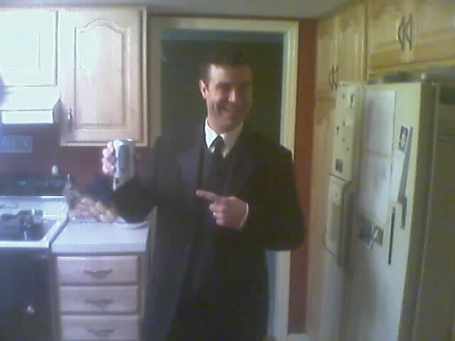 Tim is ready for the wedding